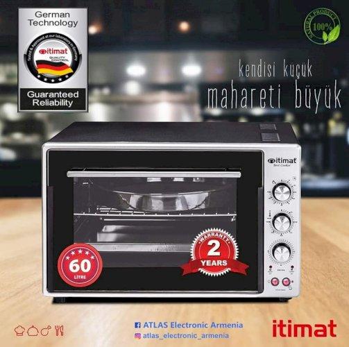 Itimat-60 liter HK02 Էլեկտրական ջեռոց, էլեկտրական վառարանԴուխովկա, Duxovka + անվճար առաքում