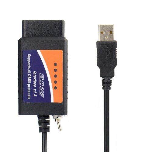 ELM327 USB 1.5 անջատիչով դիագնոստիկա diagnostika obd 2
